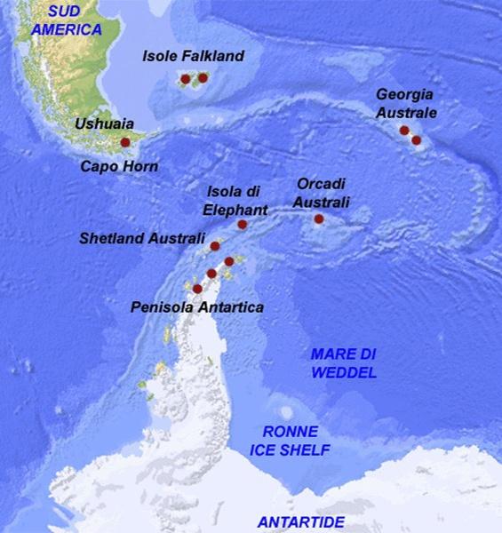Cartina Sud Italia E Isole.Crociera In Antartide Georgia Australe Ed Isole Falkland Sulla Nave Professor Molchanov Della Quark Expeditions